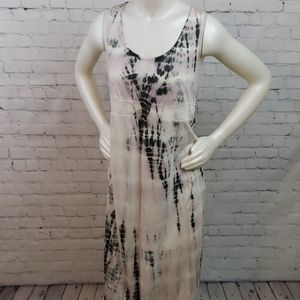 NWT David Bitton Tie Dye Maxi Tank Dress